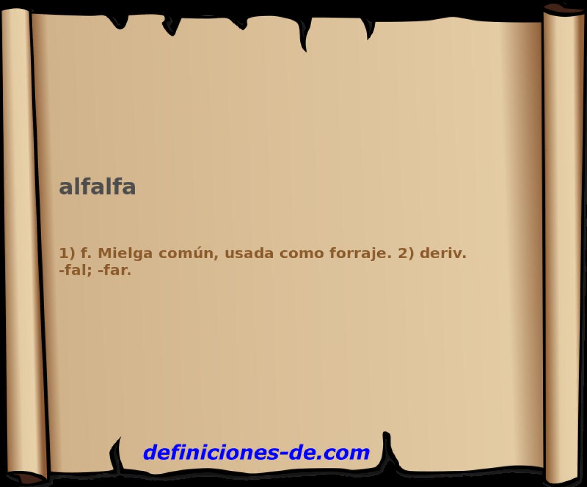 Qué significa Alfalfa?