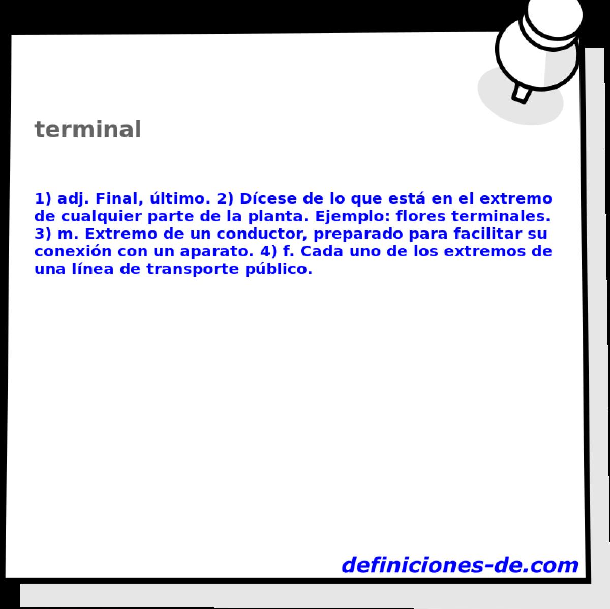 Terminales de dirección definicion