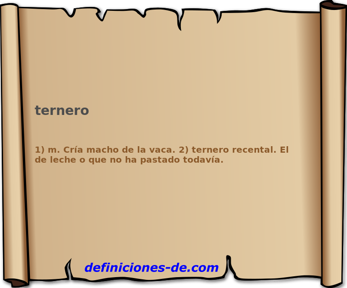 Qué significa Ternero?