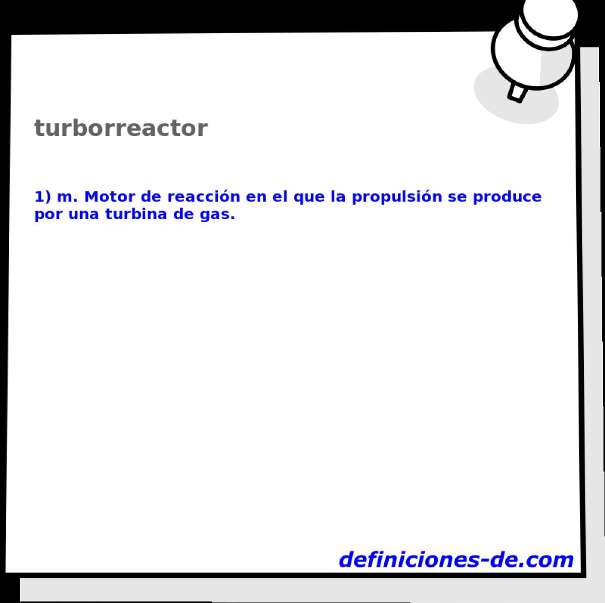 Qué significa Turborreactor?