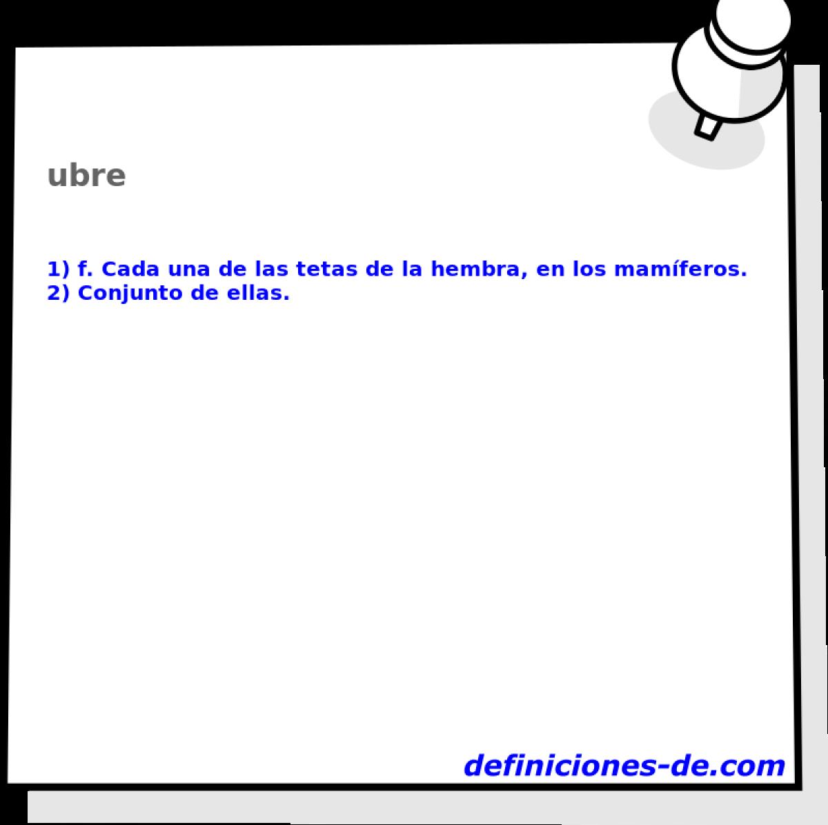 Qué significa Ubre?