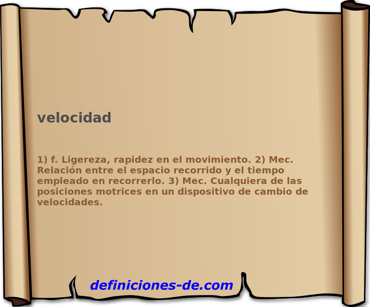 4340da1b38 ¿Qué significa Velocidad?