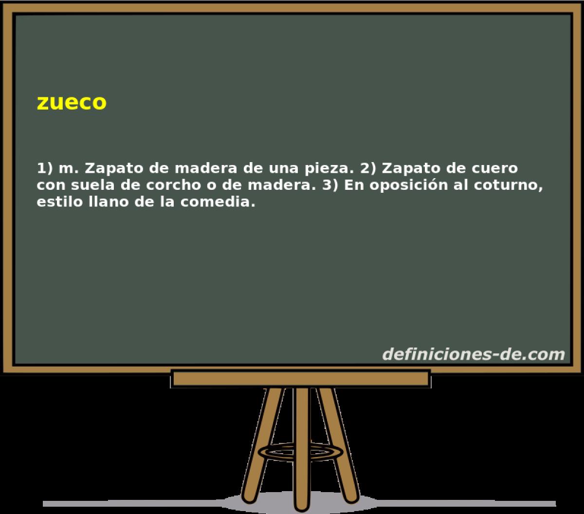 Zueco | Significado de zueco