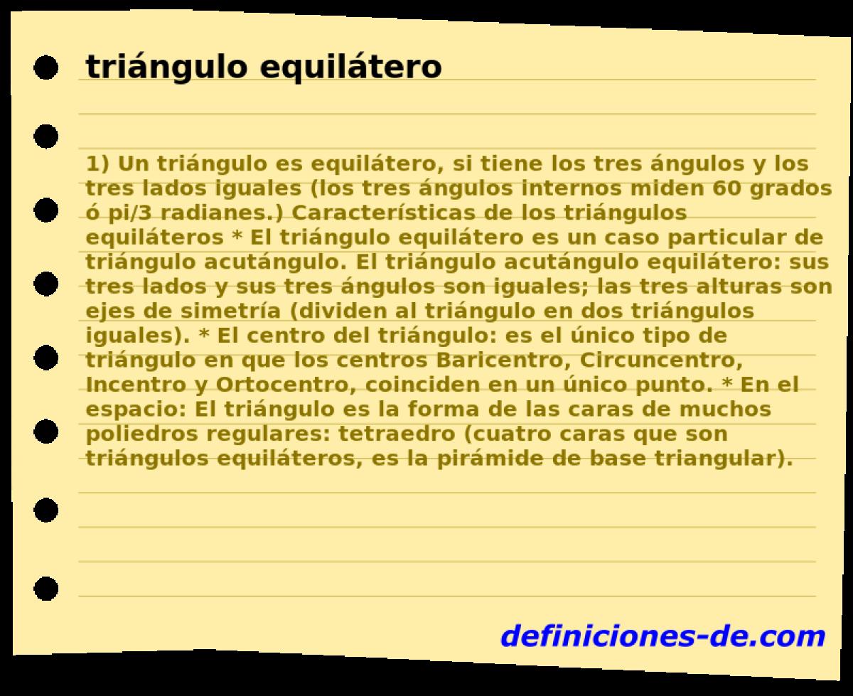 Qué significa Triángulo equilátero?
