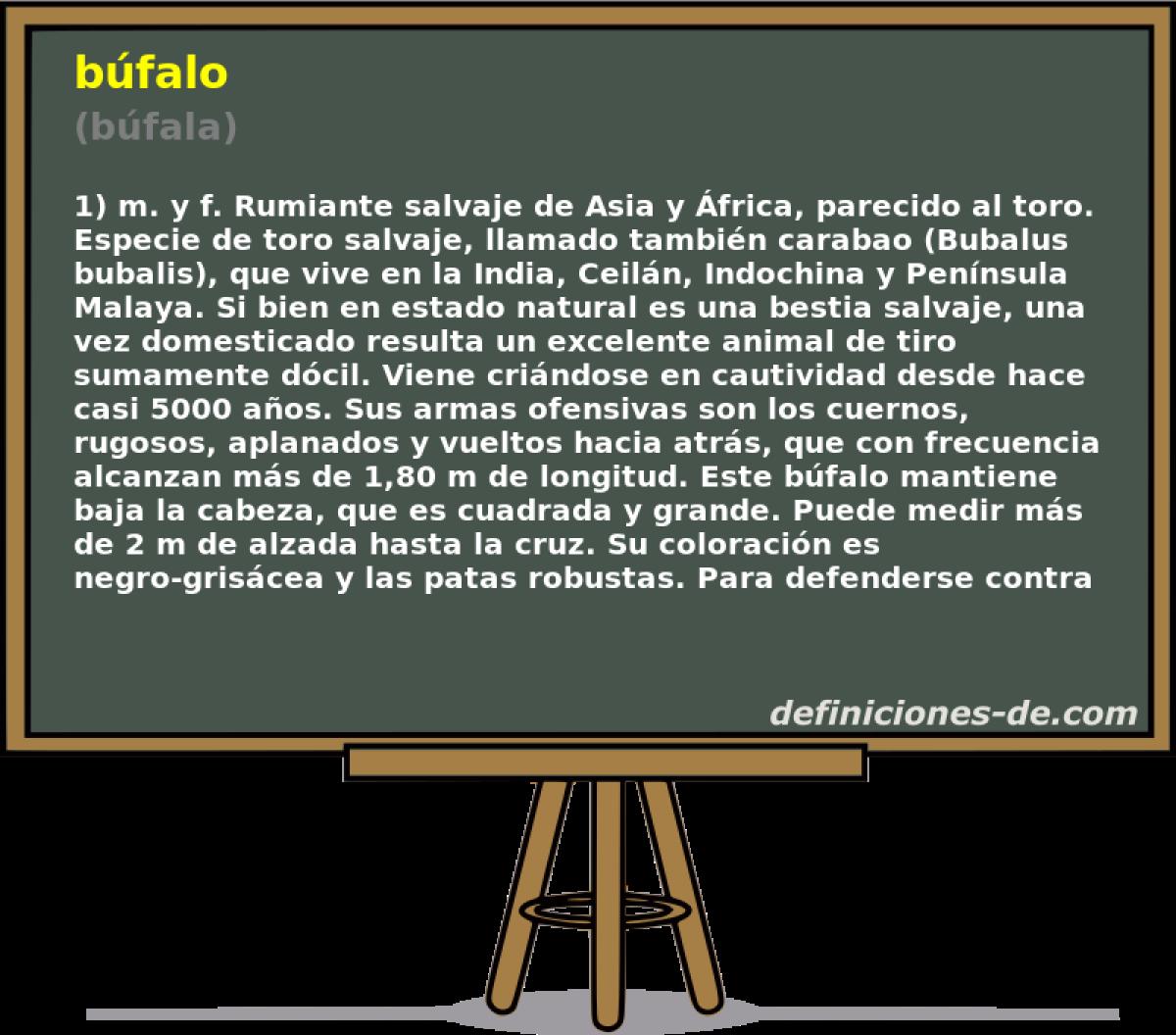 Qué significa Búfalo (búfala)?