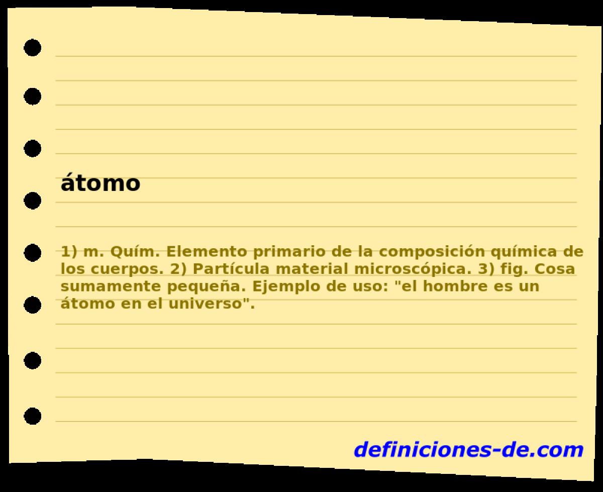 Qué significa átomo?