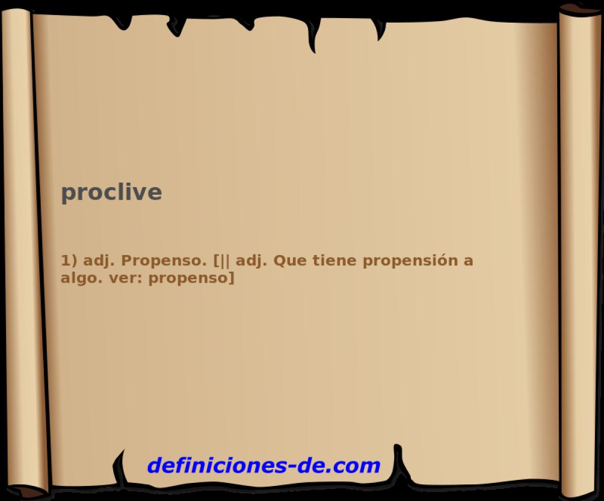 Qué significa Proclive?