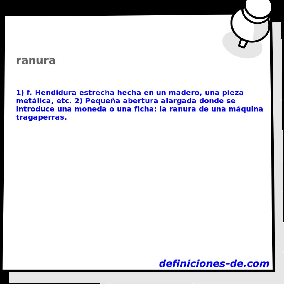 Qué significa Ranura?