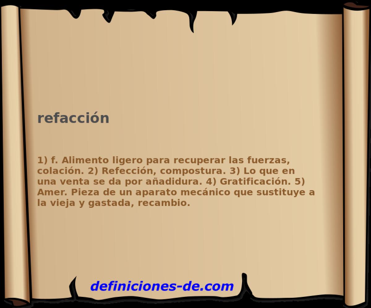 Qué Significa Refacción
