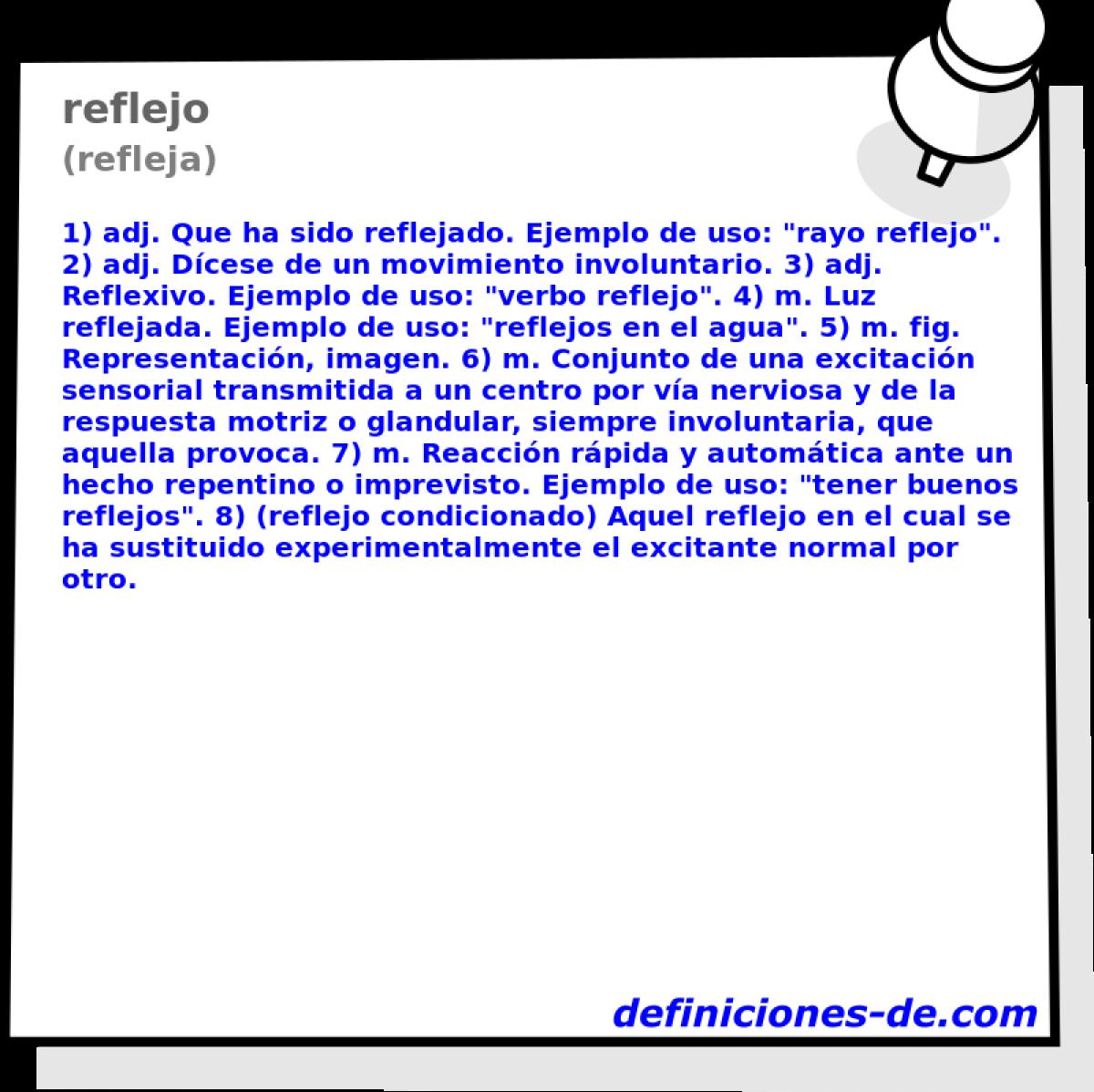 Qué significa Reflejo (refleja)?