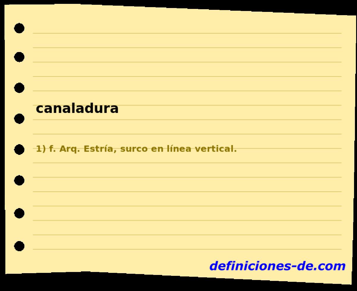 Qué significa Canaladura?
