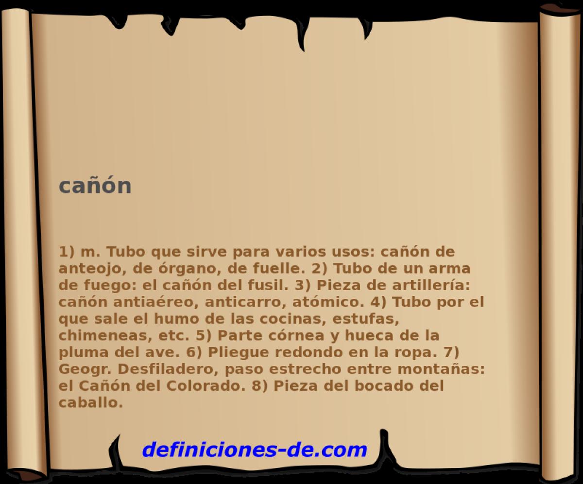Qué significa Cañón?