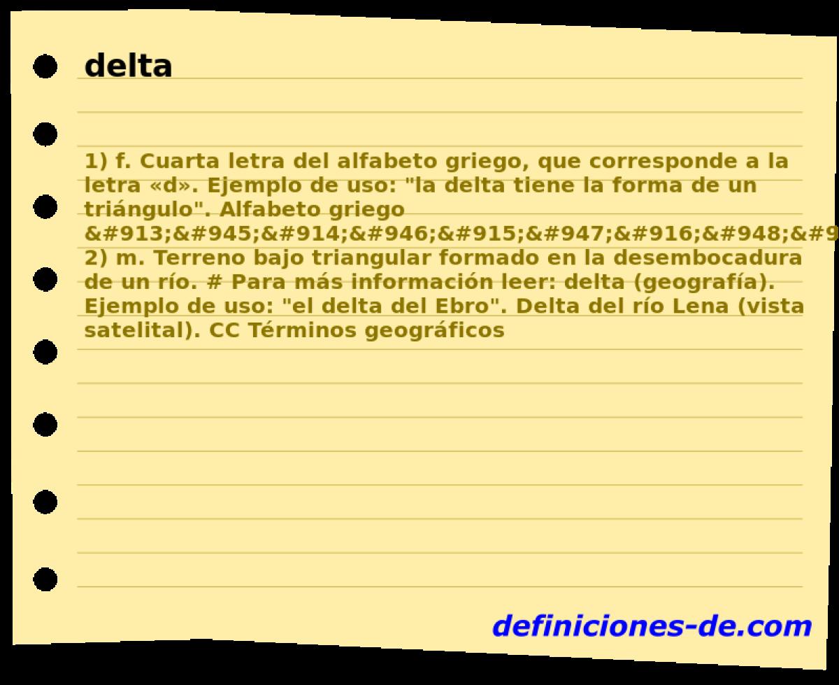 Qué significa Delta?