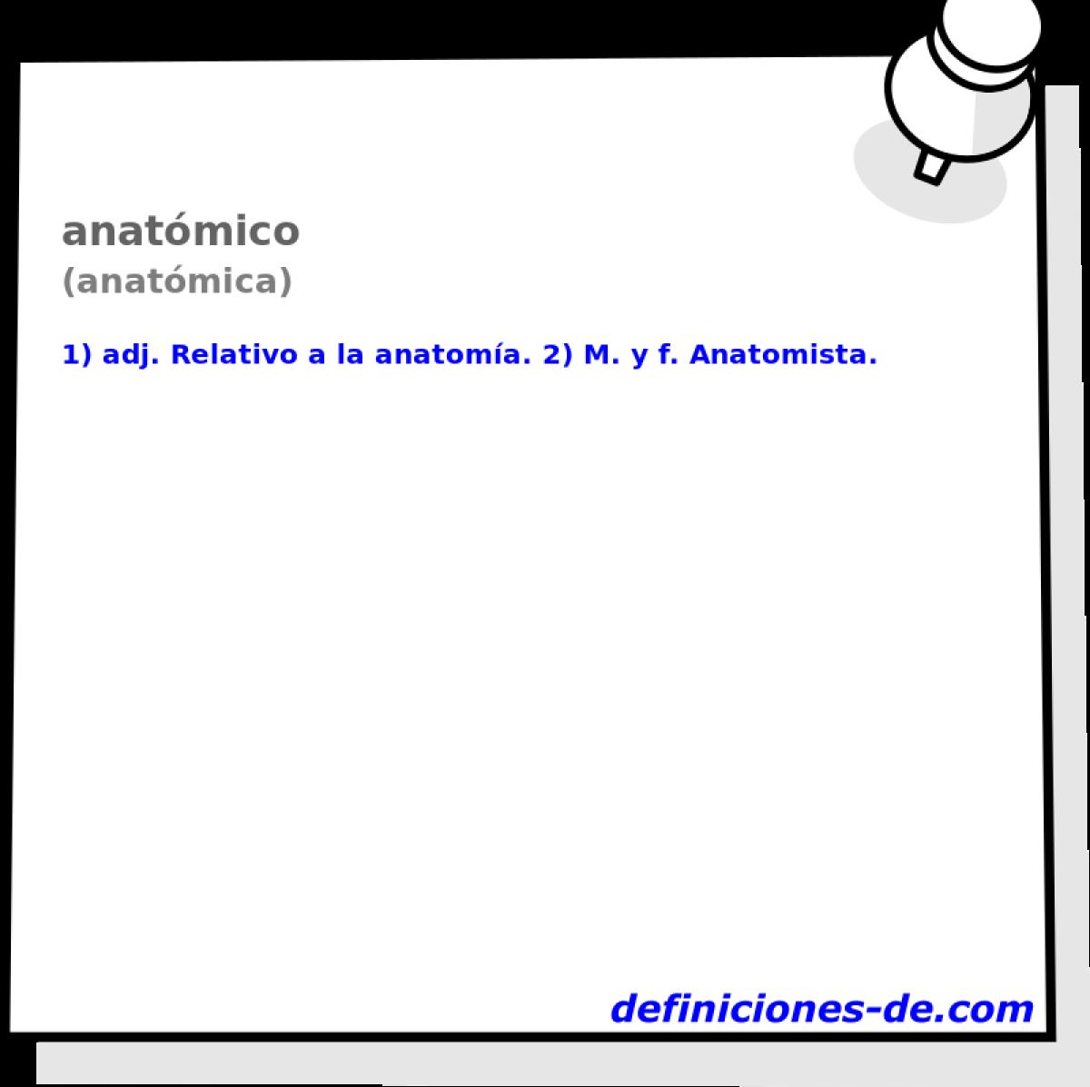 Qué significa Anatómico (anatómica)?