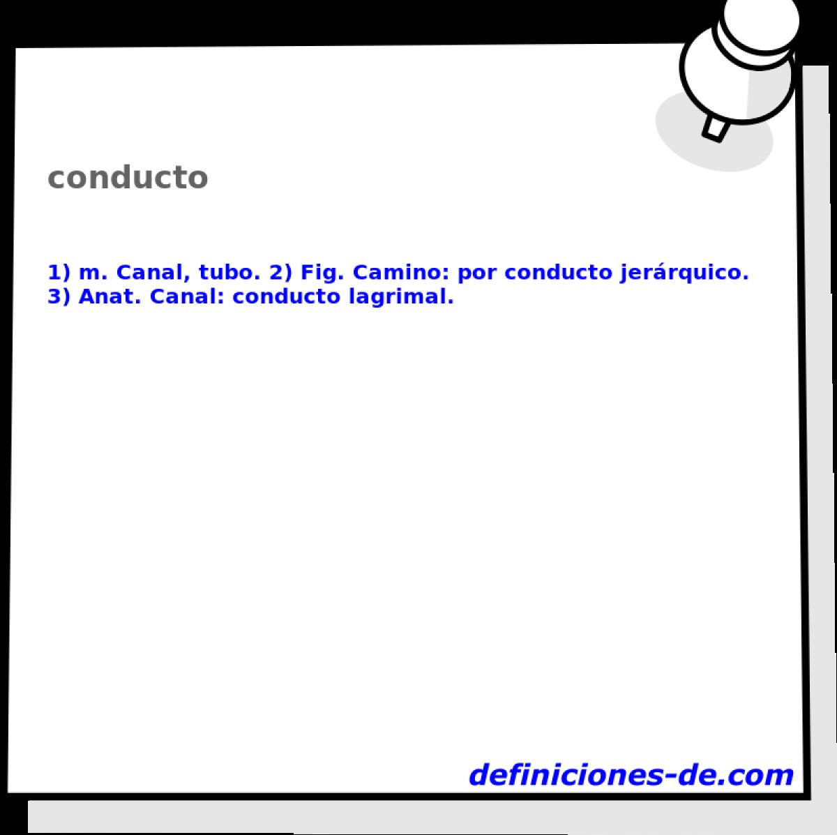 Qué significa Conducto?